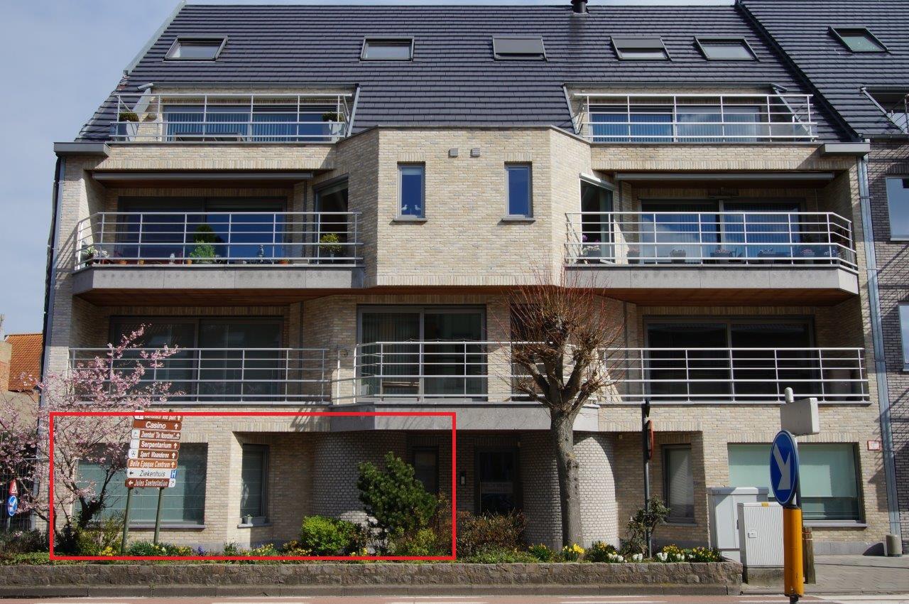 Gelijkvloers appartement te koop Blankenberge